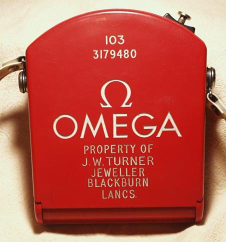 Omega Olympic Red Case - Back