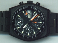 Black Lemania Chronograph