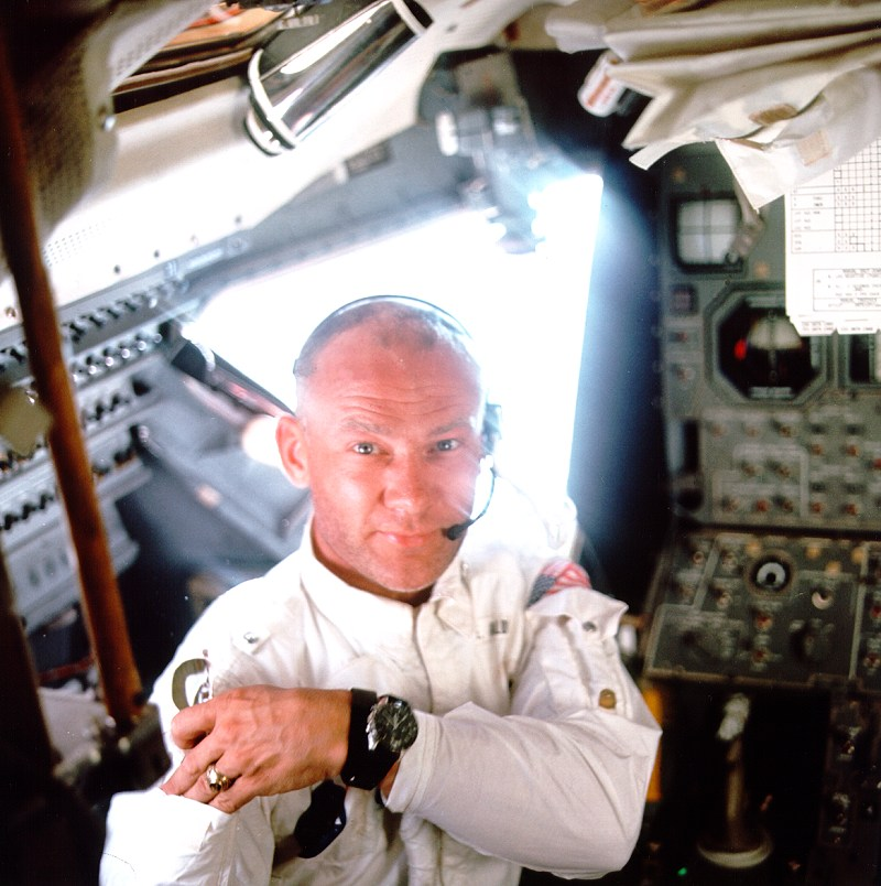 Buzz Aldrin with Speedmaster