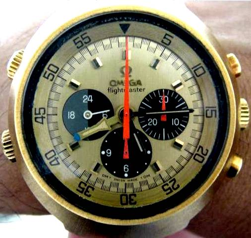 Gold Omega Flightmaster