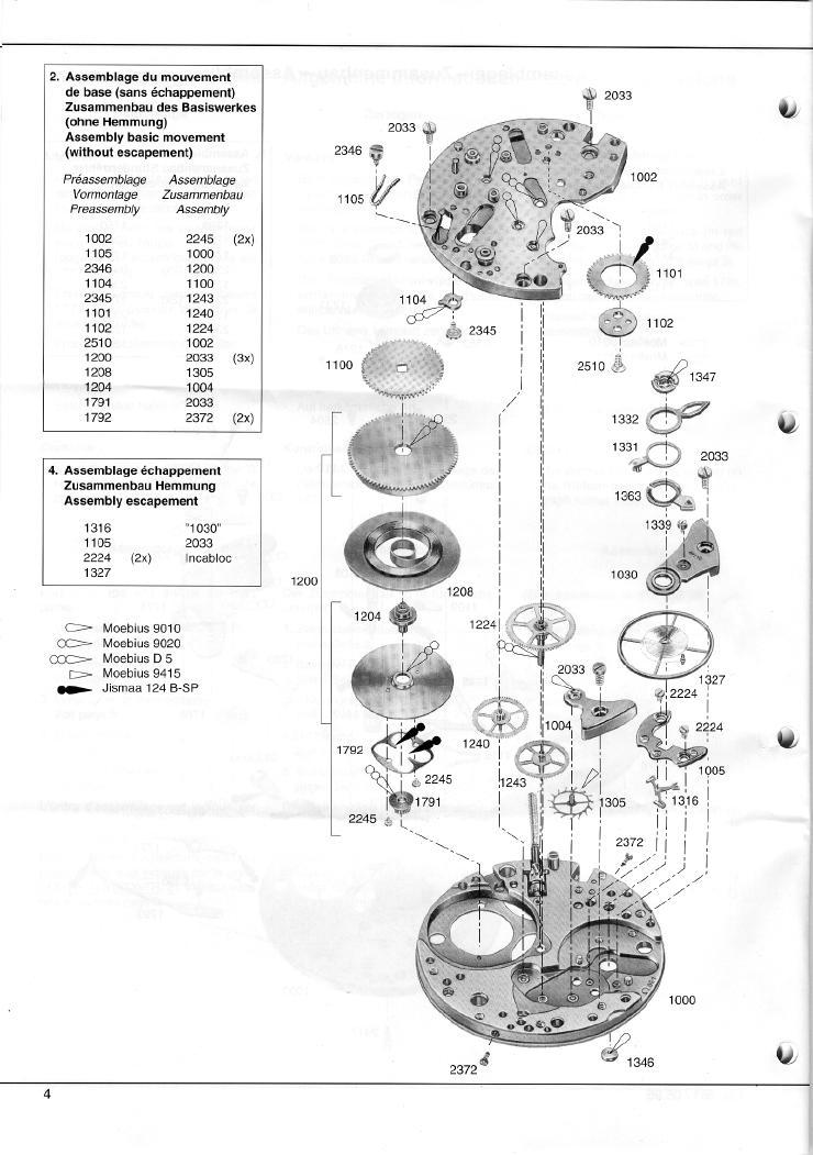 Omega C 861 Chronograph Service Manual